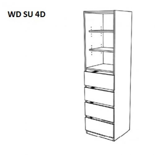 Shelf Unit – 4 Drawers